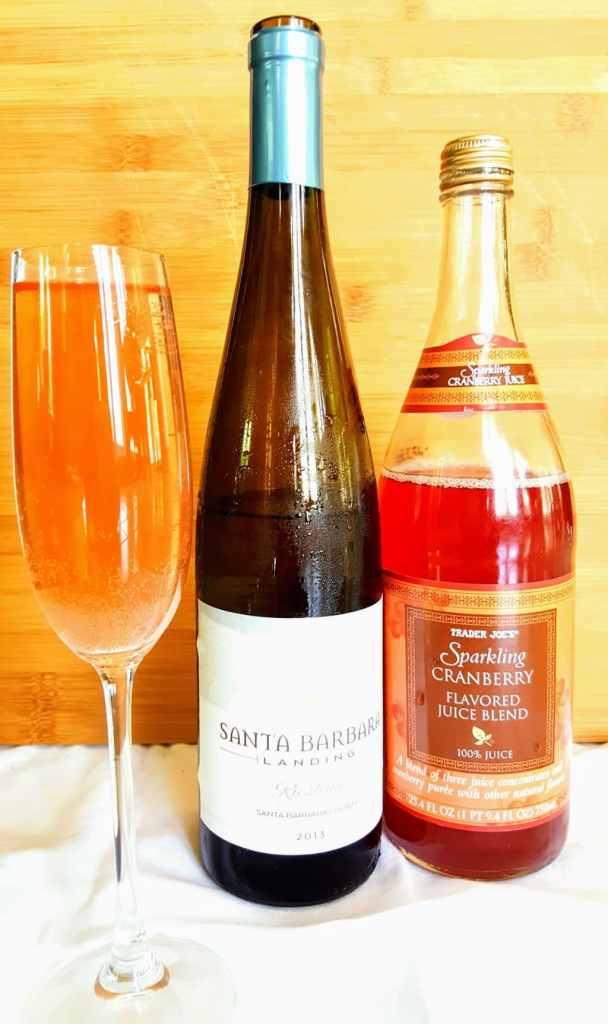 Trader Joe's sparkling cranberry, riesling, wine spritzer