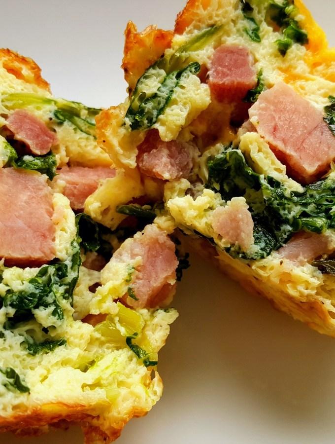 Ham & Kale Egg Cups