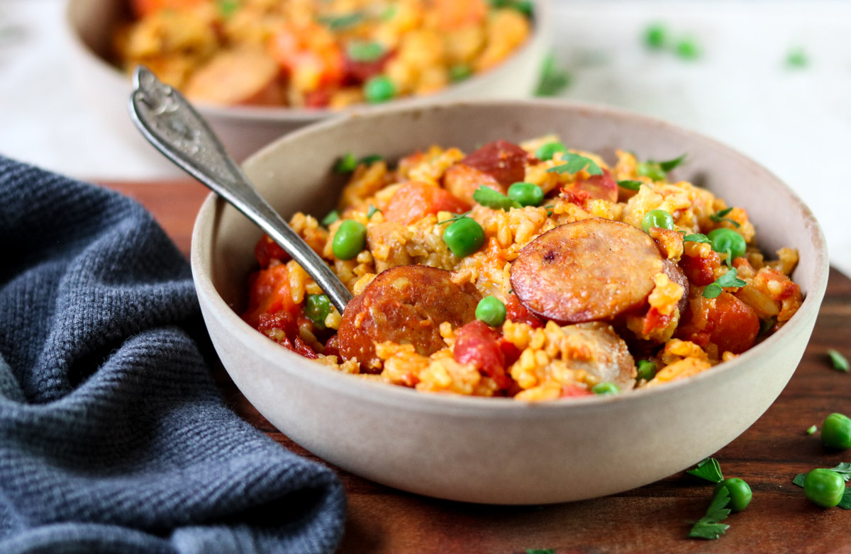 Instant Pot Cajun Rice with Chicken and Sausage