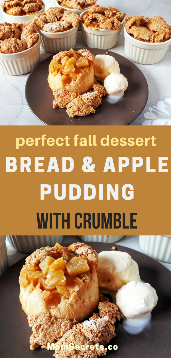 These amazing bread and apple puddings make a perfect comfort dessert for your family or guests in the fall or winter days.