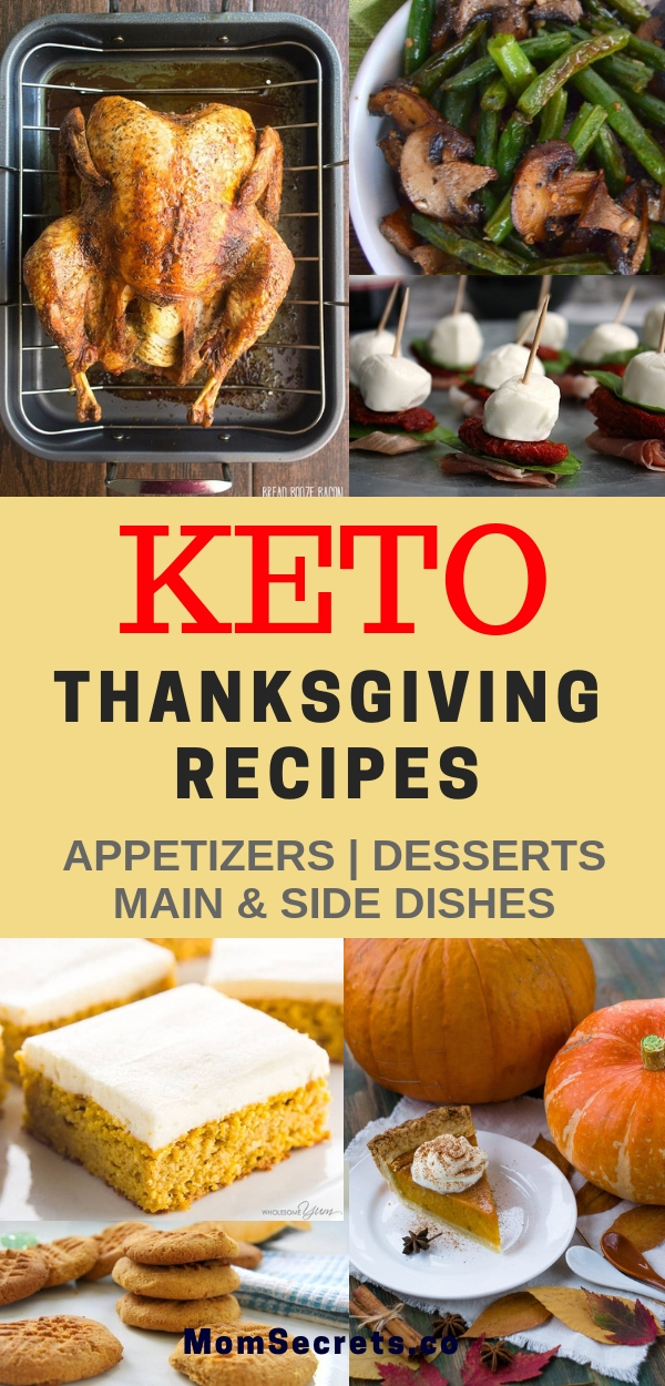 These are the best keto thanksgiving recipes- appetizers, main and side dishes, and desserts. A complete menu for your family thanksgiving celebration!