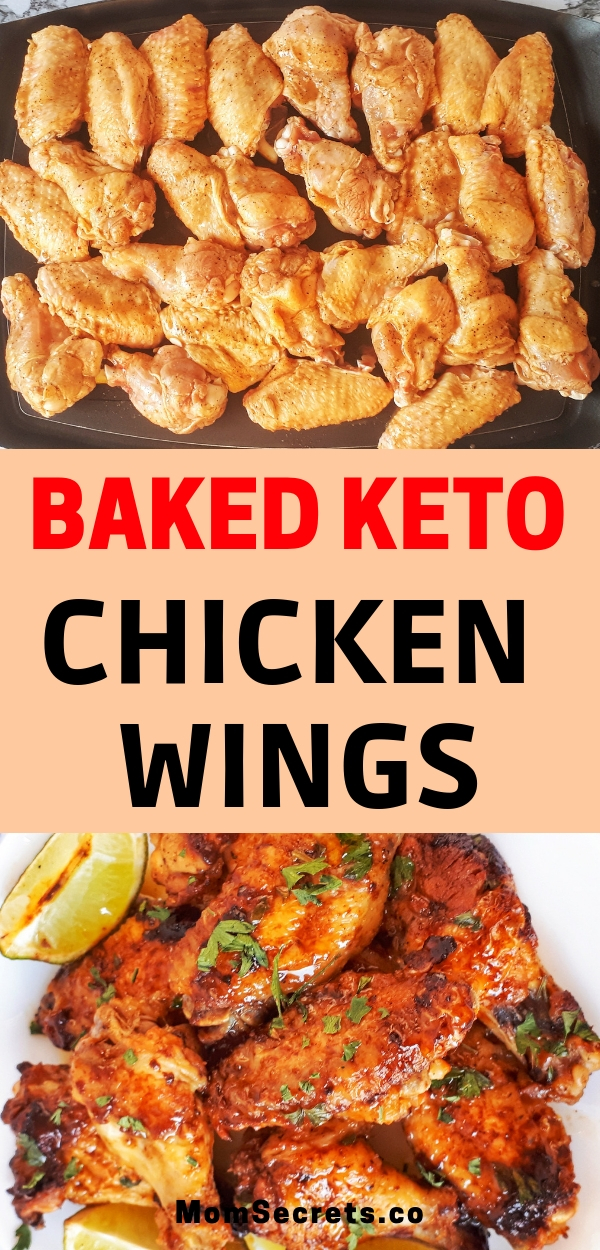 Baked Keto Chicken Wings are sweet, spicy and cripy in the edges. They are paleo and keto friendly. These wings are fantastic!!!