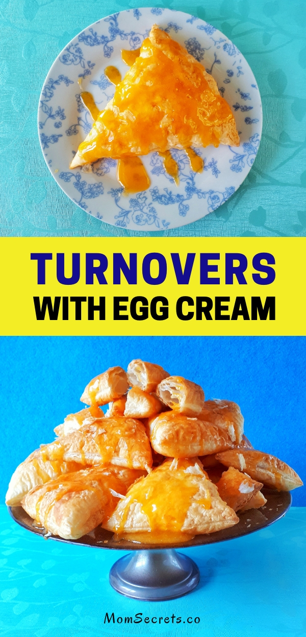 These homemade turnovers are made with frozen puff pastry which makes them so easy and quick to make. The richness of the egg cream makes them unforgettable!!