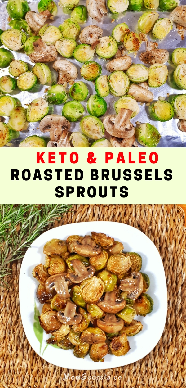 Oven roasted brussels sprouts are a simple, quick and easy side dish that is keto, paleo, healthy and really deliciously crispy!
