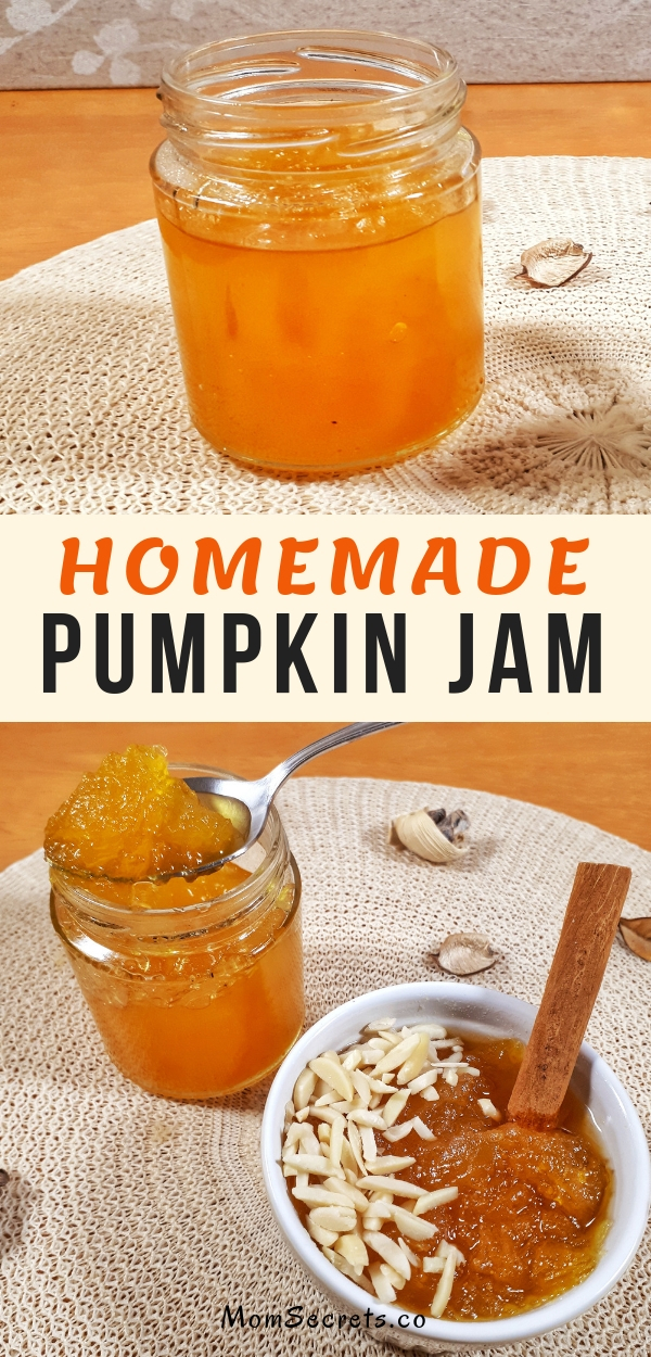 This homemade pumpkin jam recipe made with a spicy flavor is perfect for tarts, pies or slathered on toast in the morning breakfast.This jam is delicious!