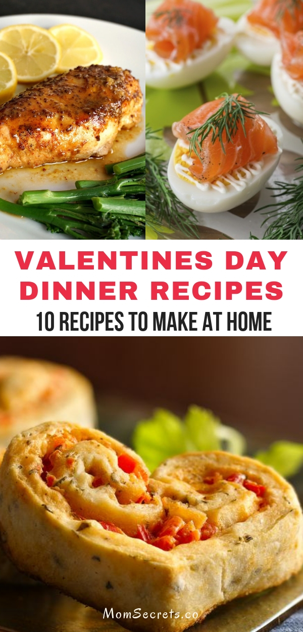 These are the best dinner recipes for Valentine's Day: appetizers, side dishes, and main dishes. They are easy to make, healthy and absolutely delicious!