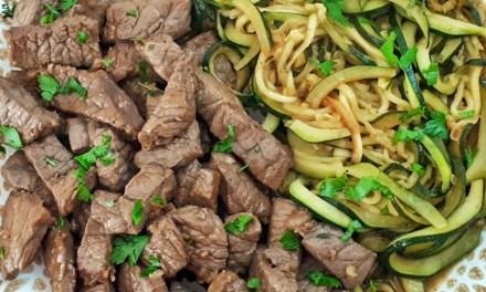 Keto Steak Bites & Zucchini Noodles