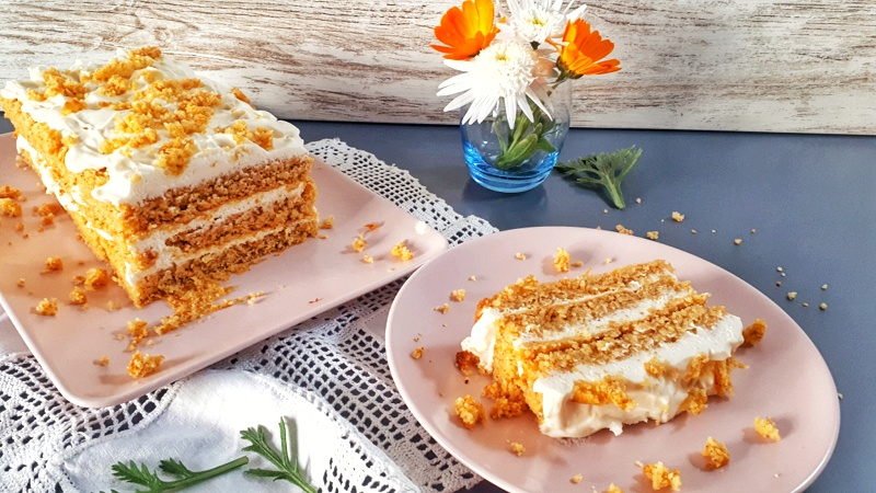Keto carrot cake is a perfect Easter dessert. It's moisty and fuffy withlots of spices...The BEST carrot cake!