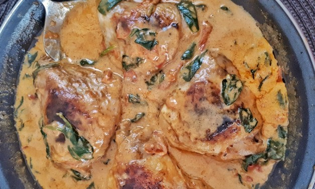 Creamy Tuscan Chicken Thighs – Keto & Whole30