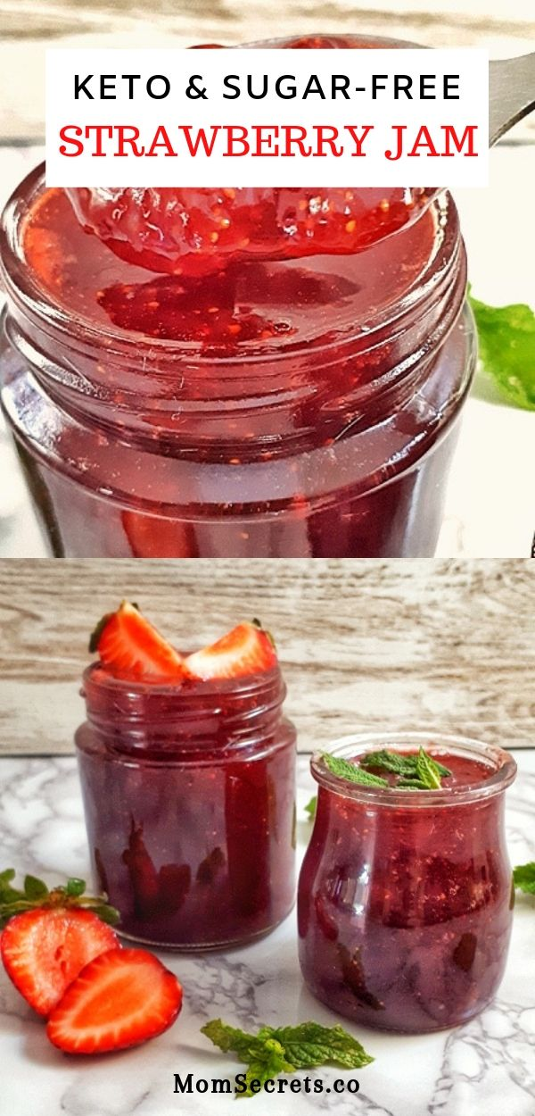 Homemade Strawberry Jam - Keto & Sugar-Free Recipe