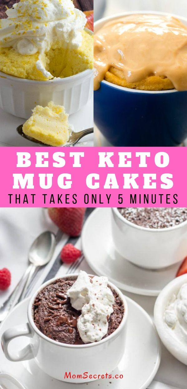 Here you have a list of the BEST keto mug cakes you'll ever have! They're ready in less than 10 minutes and they all are keto, low carb and sugar-free.