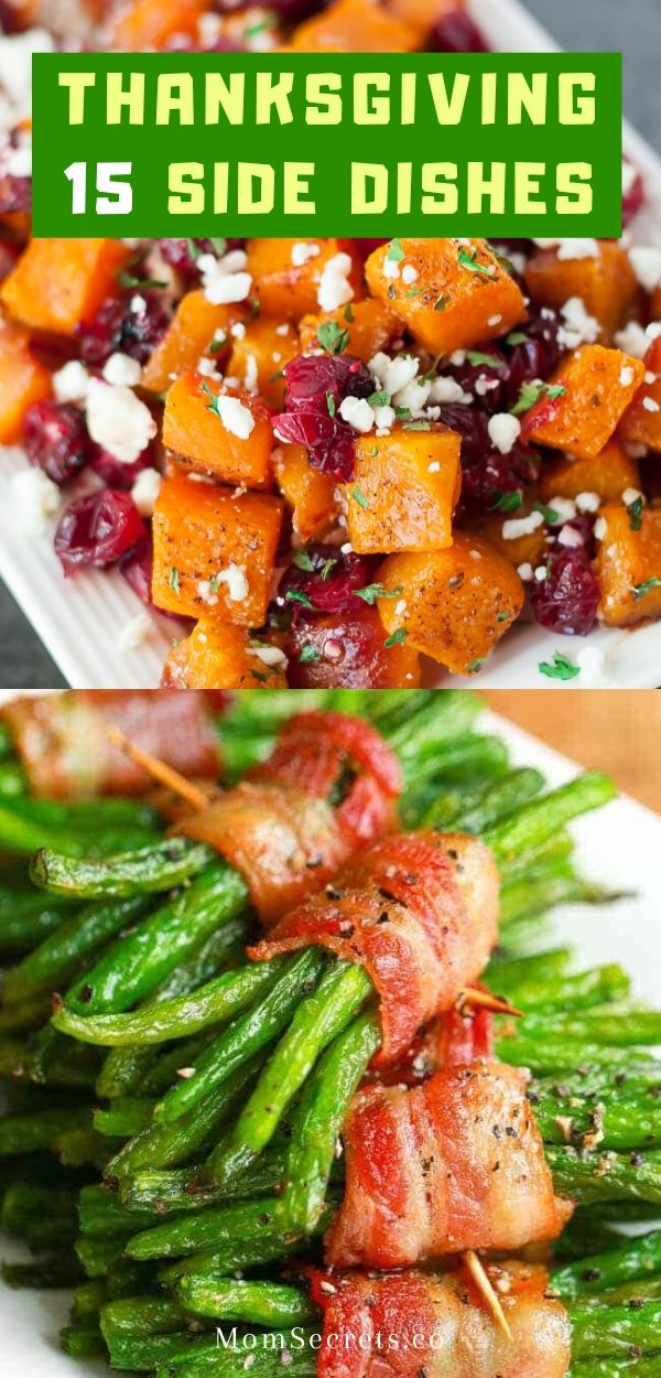 Easy Thanksgiving Side Dishes are the key to a perfect holiday feast that include mashed potatoes, stuffing, veggies, sauces... #thanksgivingsidedishes