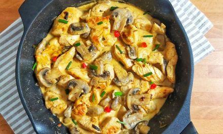 Keto Chicken Tenders in Mushroom Sauce