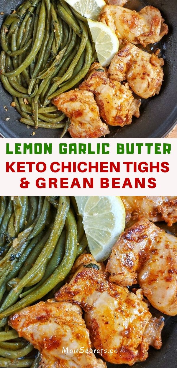 Lemon Garlic Butter Chicken and Green Beans Skillet is perfect for quick dinner. In less than 30 minutesthis  keto-friendly dinner can be on your table!109.9 g36.63 g Carbs52.83 g17.61 g Saturated Fat49.54 g16.51 g Polyunsat Fat22.58 g7.53 g Monounsat Fat51.39 g17.13 g Sugar19.61 g6.54 g Cholesterol665.97 mg221.99 mg Sodium1432.7 mg477.57 mg Potassium2807.91 mg935.97 mg Fiber17.28 g5.76 g We use the USDA Nutrition database to provide nutritional informa