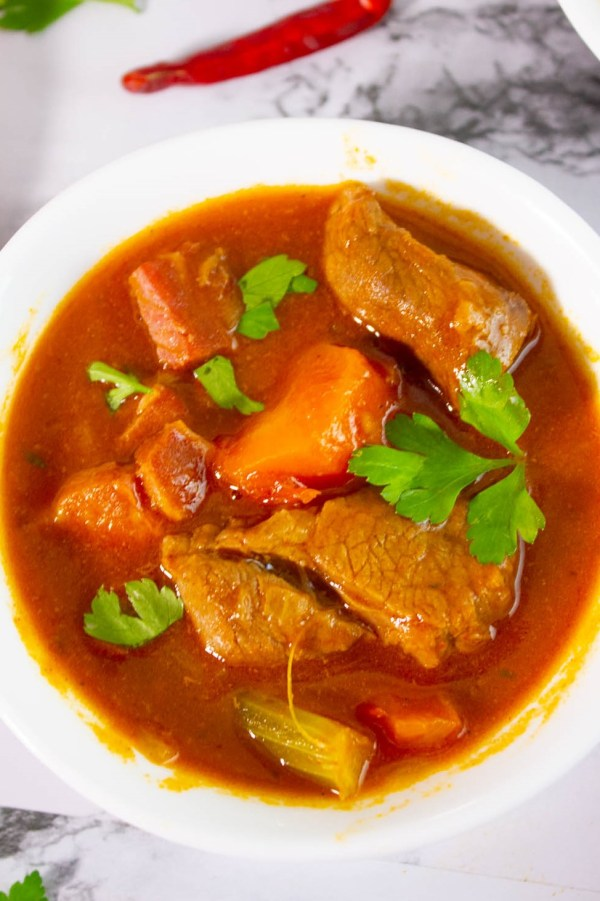 This Keto Beef Stew recipe is the ultimate in keto comfort food. Rich and full of all of the flavors, this stew will quickly become a family favorite!