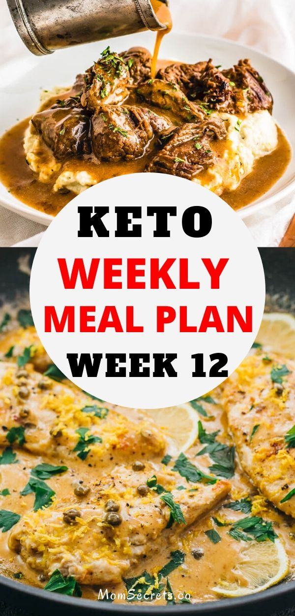 Looking for a keto weekly meal plan? Here's a collection of 7 dinner easy and quick recipes plus one amazing dessert!! #keto #ketorecipes #ketodinner