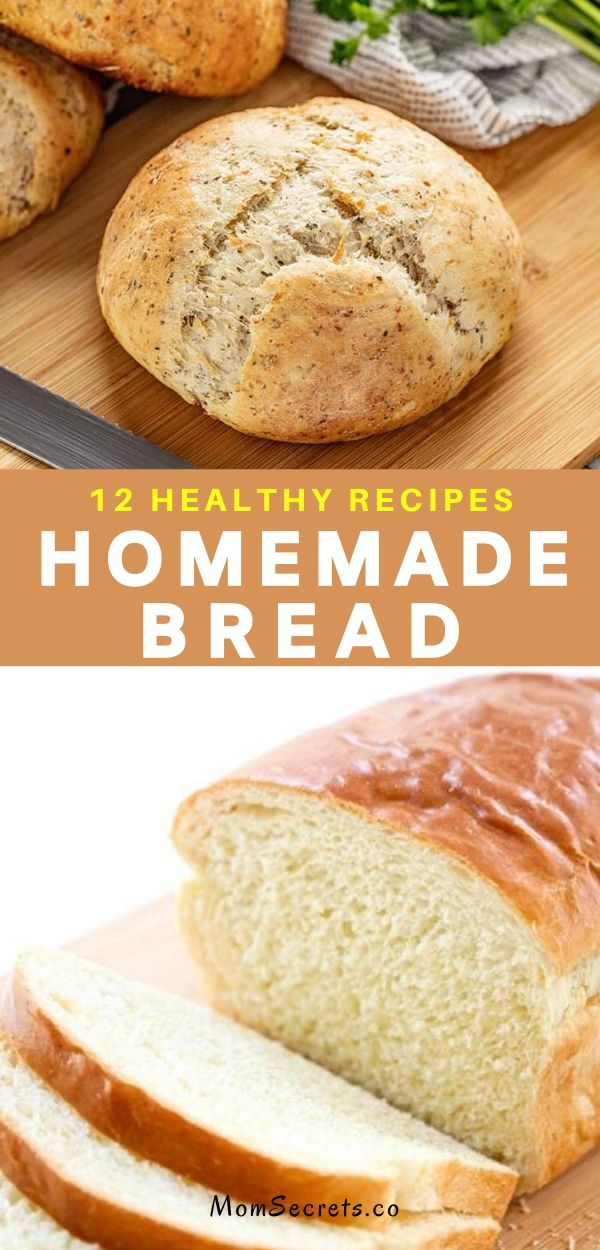 Want to learn to make Homemade Bread? With this 12 healthy and easy to follow recipes, you'll be filling your home with the aroma of freshly baked bread in no time.