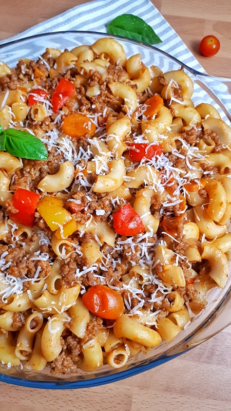 American Goulash is an easy, one-pot, classic comfort food made with ground beef, tomatoes, and macaroni noodles that comes together in 30 minutes. #goulash #comfortfood