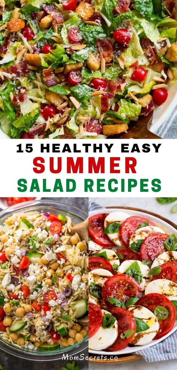 These salad recipes are perfect for summer cookouts and easy family dinners and are some of the best ways to use the season's delicious fruits and veggies. #summersalads