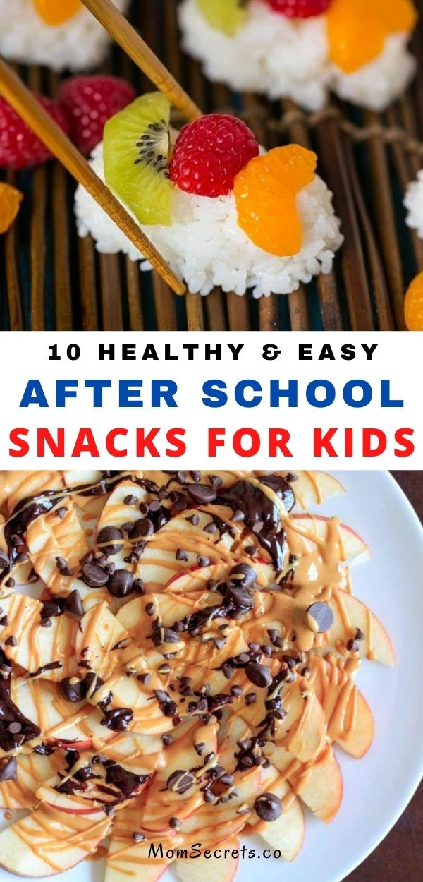 Don't miss these 10 easy and healthy snack ideas for kids! They take minutes to make and I guaranteed that they put a big smile on kids faces after a long day of school.