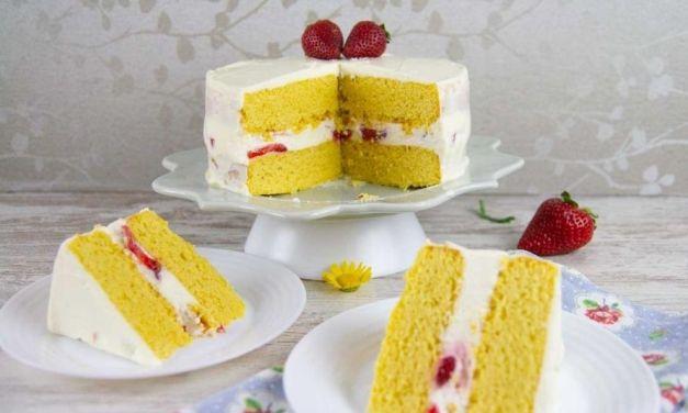 Keto Vanilla Birthday Cake – Gluten-Free Low Carb