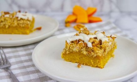 Best Keto Pumpkin Coffee Cake with Cinnamon Streusel Topping