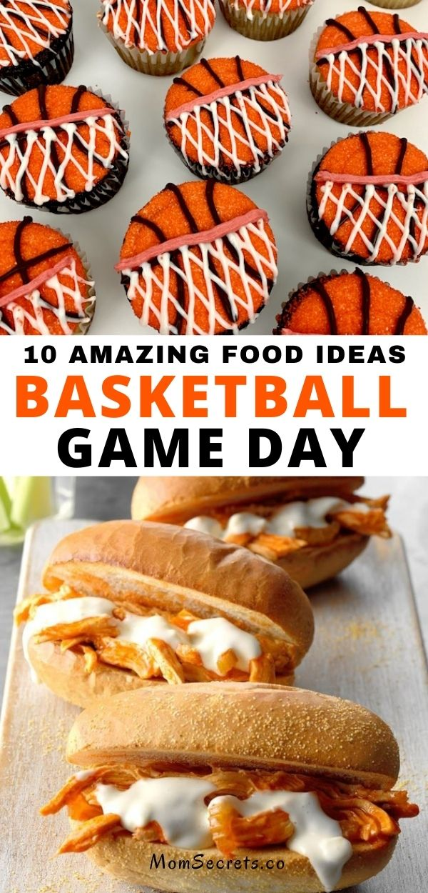 Today I'm sharing some easy and fun party ideas for your basketball watch party. It's totally customizable to match your team's favorite colors. #basketballgamefood #basketballfoos ideas #collegebasketballfood