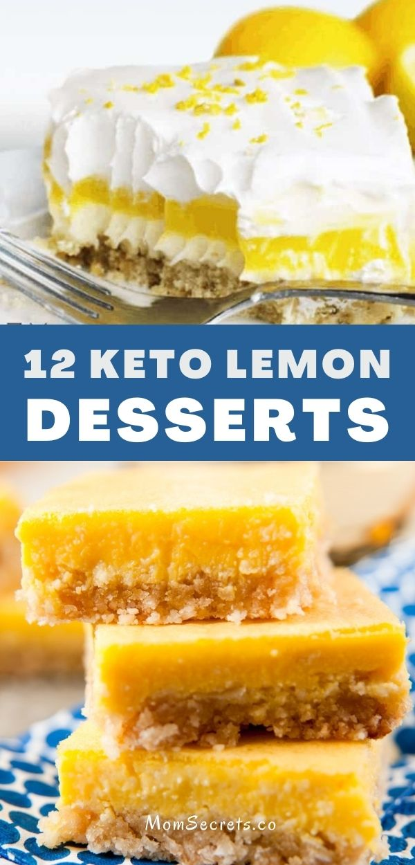 We've rounded up our very best Keto Low-Carb Lemon Desserts for you! These keto lemon cakes, cupcakes, bars, cookies are ideal for spring and summer! #ketodessert #lemondesserts #lemon #lowcarb
