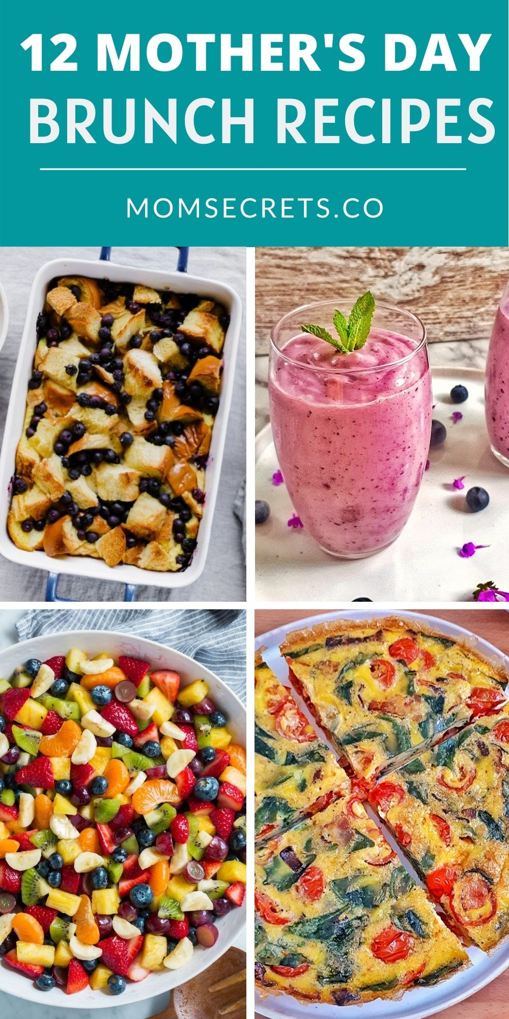 12 Mother's Day Recipes Ideas is a collection of delicious brunch recipes to make for your mom on her special day! #mothersday #brunch #breakfast