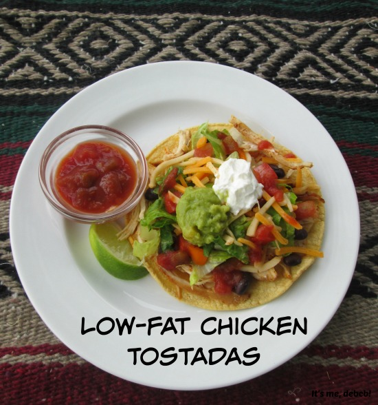 Low-fat-Chicken-Tostadas