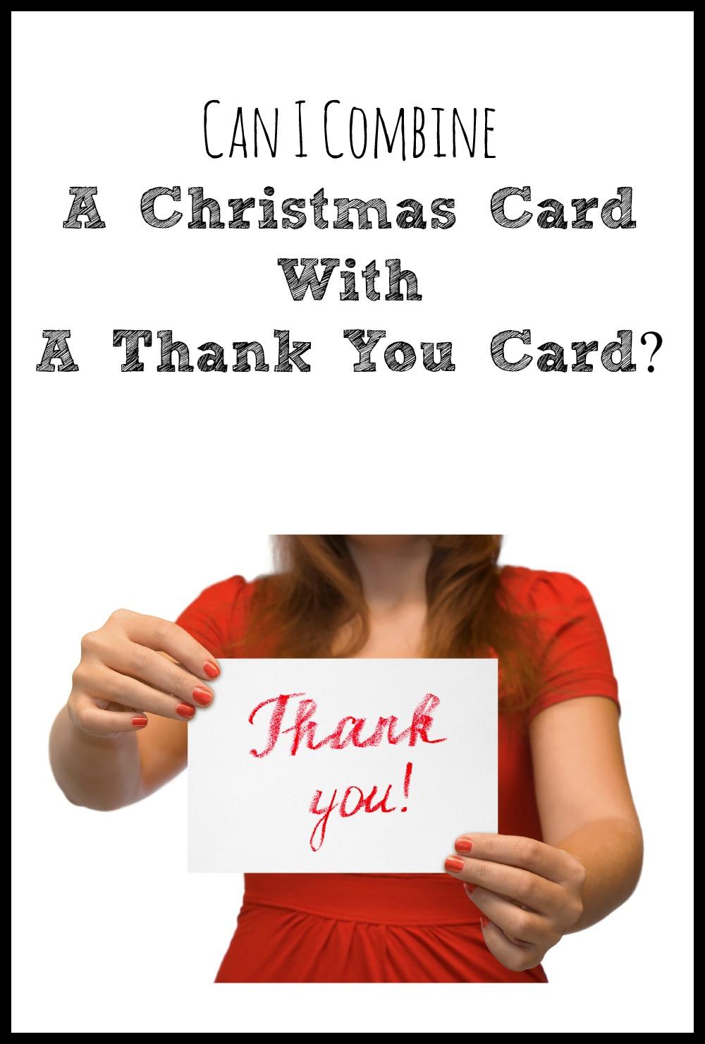 Can A Christmas Card Do Double Duty As A Thank You Card