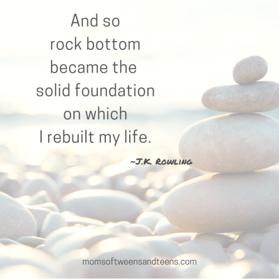 Rock Bottom Can Be A Solid Foundation To Rebuild Your Life