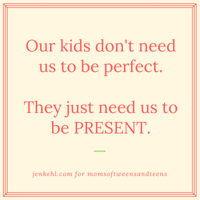 You Don't Need to Be Perfect, Just Present
