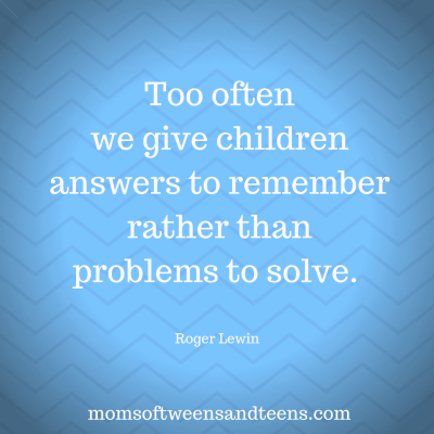 Support Them To Solve Their Own Problems