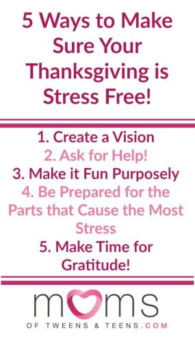 make thanksgiving less stressful