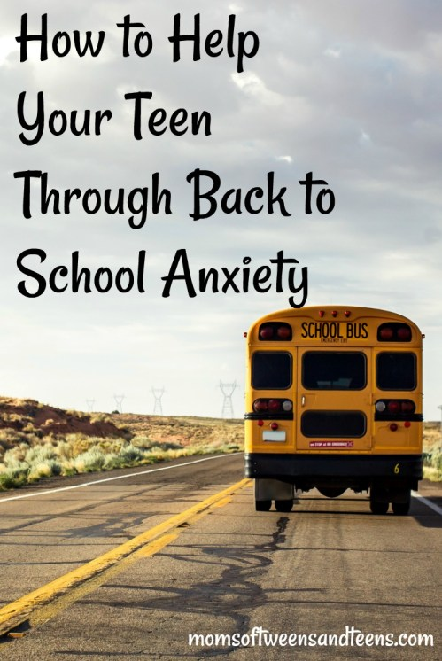how to deal with back to school anxiety