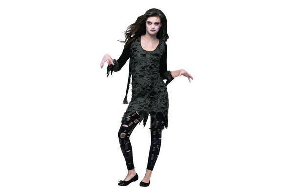 girl zombie costume tween or teen