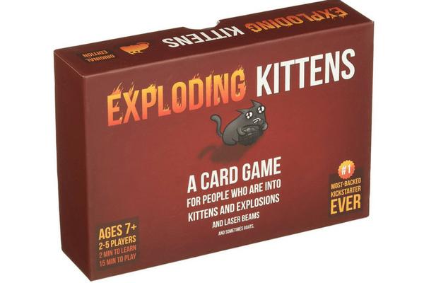 best family board games exploding kittens