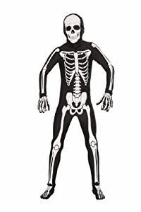 boys tween teen skeleton halloween costume
