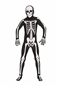 boys tween teen skeleton halloween costume