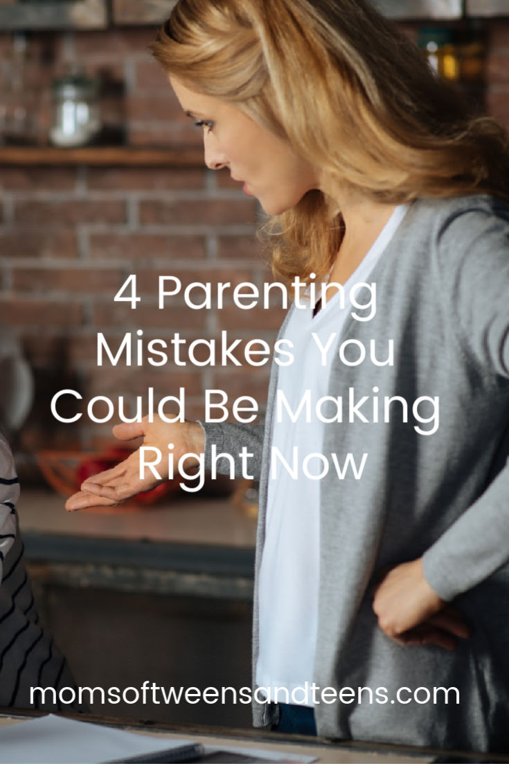 Parenting teens can be challenging, leaving ample opportunity to make mistakes. It's important to identify our mistakes so we can grow in awareness and learn to break unhealthy parenting patterns. This will bring healing and build closer relationships with our kids. #parenting #teens #tweens