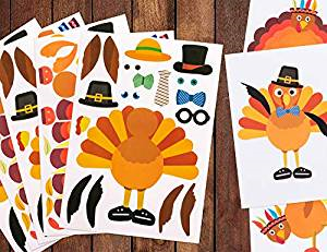 thanksgiving stickers for kids