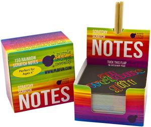 Rainbow scratch off notes