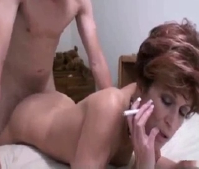 Smoking Mom Gets Banged By Her Son In Doggy Style Pose