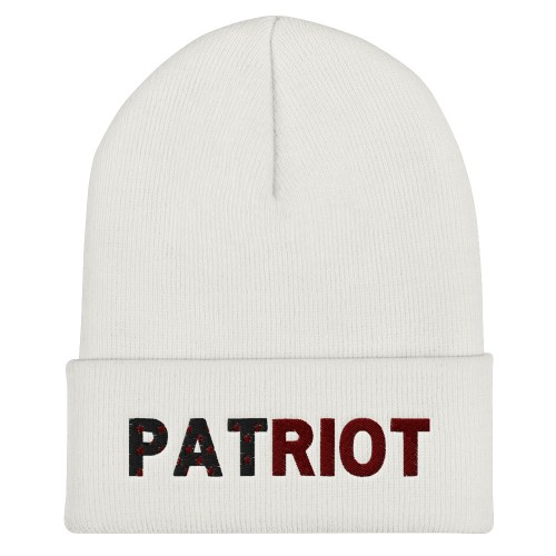 PATRIOT Embroidered Cuffed Beanie