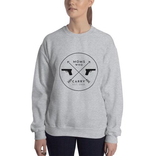 Moms Who Carry Logo Crew Neck Sweatshirt