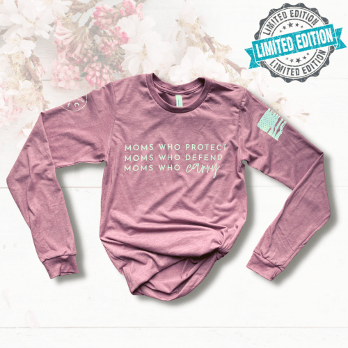 """""""Moms Who"""" Spring Long Sleeve Tee *LIMITED EDITION*"""