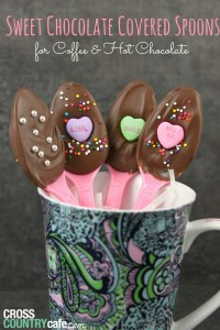 Homemade Chocolate-Covered Spoons for Valentine's Day
