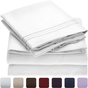 Mellanni Bed Sheet Sets — Soft, Comfortable Microfiber Sheets in a Variety of Colors
