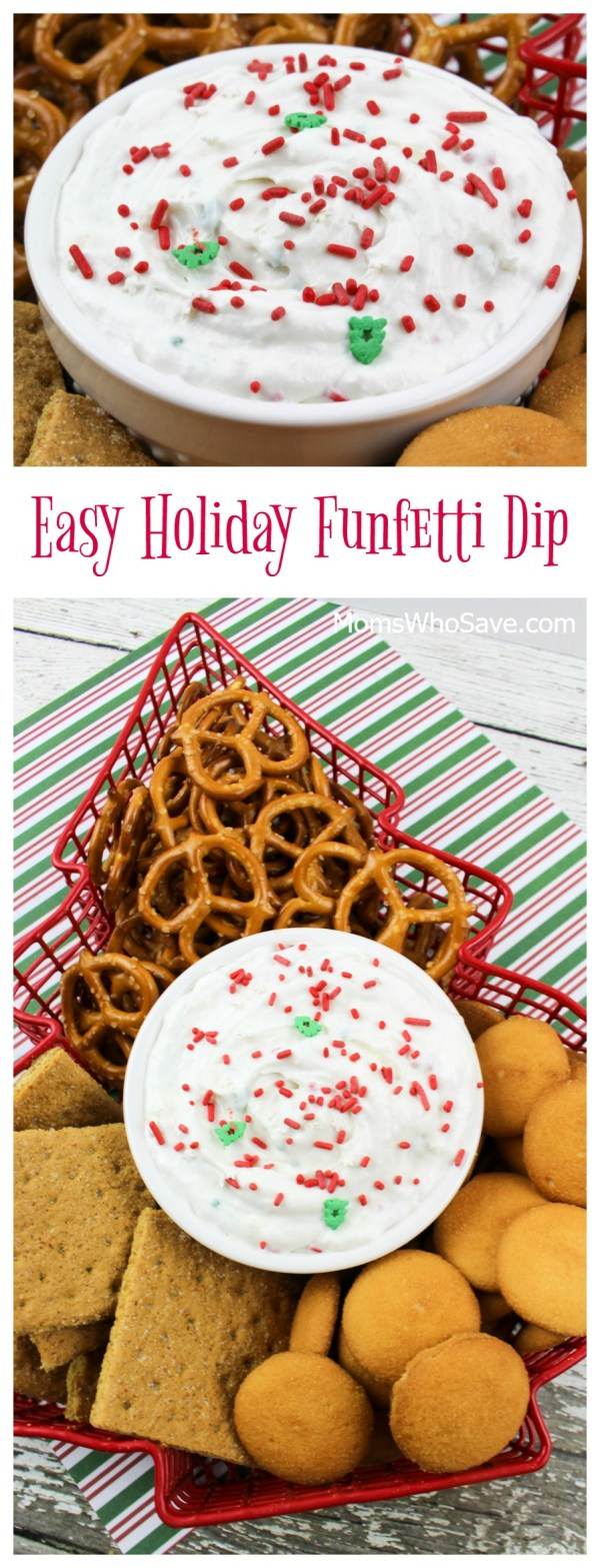 easy holiday funfetti dip